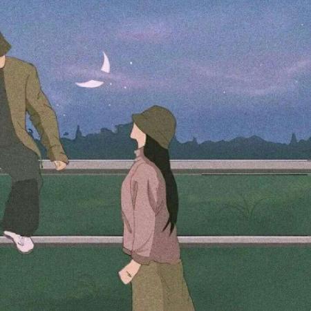 插画情侣头像 情侣专用,手绘情侣头像一对两张